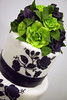 W9066- purple lime rose wedding cake
