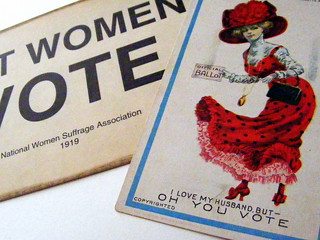 Suffrage Flyer & 'Oh You Vote!' Postcard