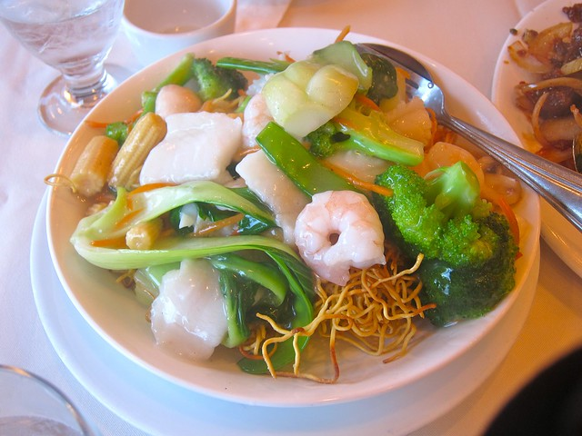 Seafood Chow Mein | Golden Great Wall Szechuan Restaurant