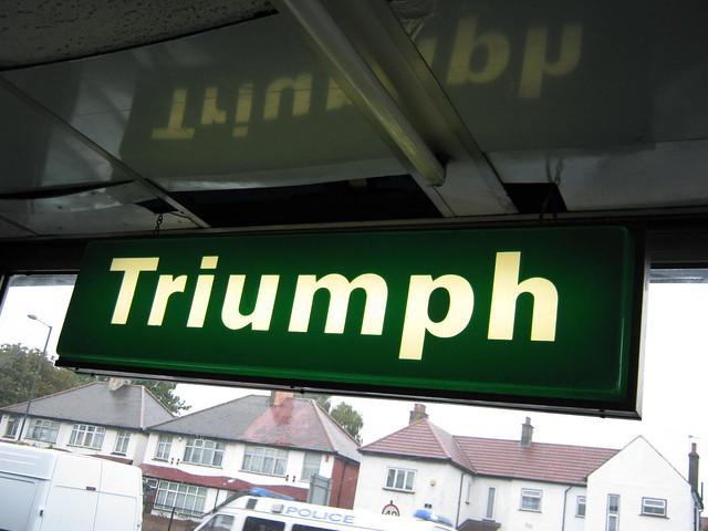 TRIUMPH SIGN 1982