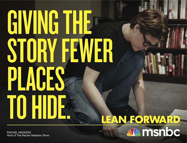 msnbc quotlean forwardquot rachel maddow flickr photo sharing