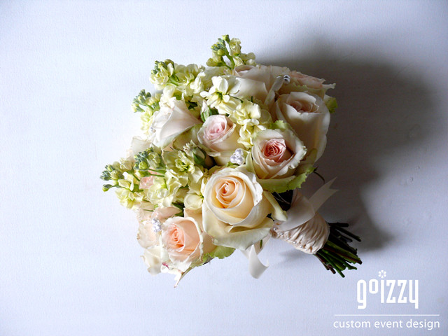 Champagne Bridal Bouquet Fall Wedding 2010