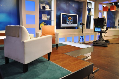 Backstage Tour of CBS's The Early Show, Oct. 5, 2010