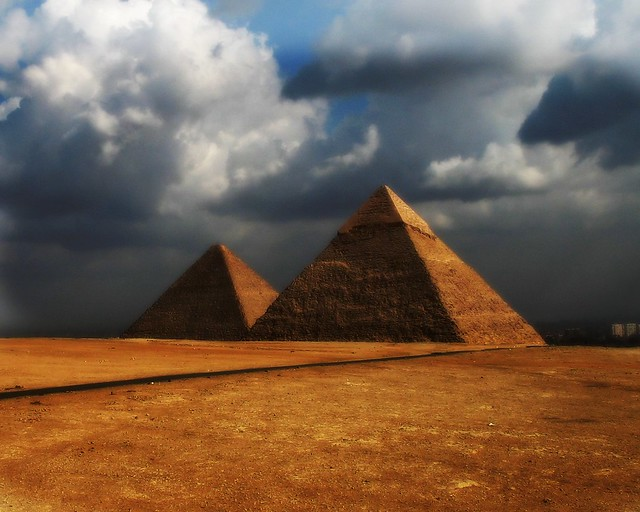 Khafre and Khufu's Great Pyramid