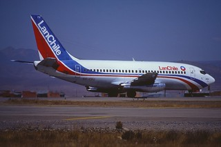 LAN Chile Boeing 737-2A1; CC-CHJ@LPB, July 1984/ CEZ (from my collection, not my picture)