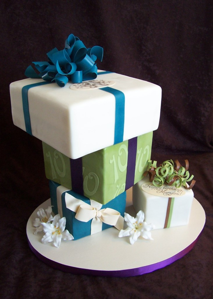 Peachy Upside Down Package Cakes These Tiers Were Stacked In Reve Flickr Funny Birthday Cards Online Bapapcheapnameinfo