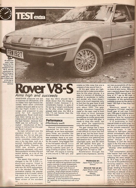 Rover SD1 3500 V8-S Road Test 1979 (1)