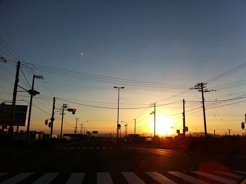 road sky japan hokkaido 北海道 日本 iphone