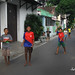 Bermain di jalanan. : Children playing in the street. Photo by Lalitya