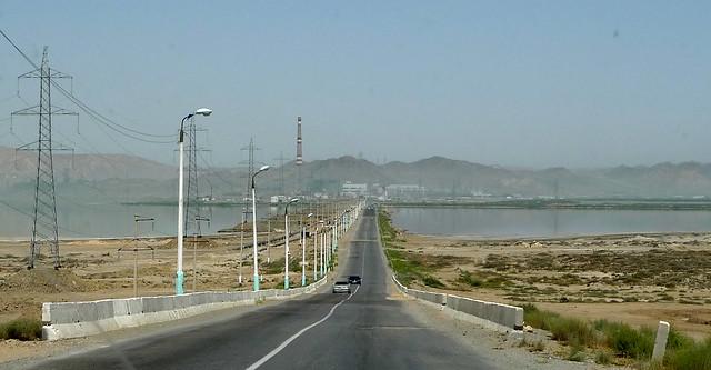 Awaza (Turkmenistan) - Road towards Türkmenbaşy