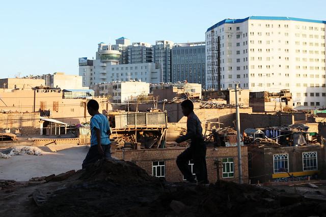 カシュガル、旧市街と新市街