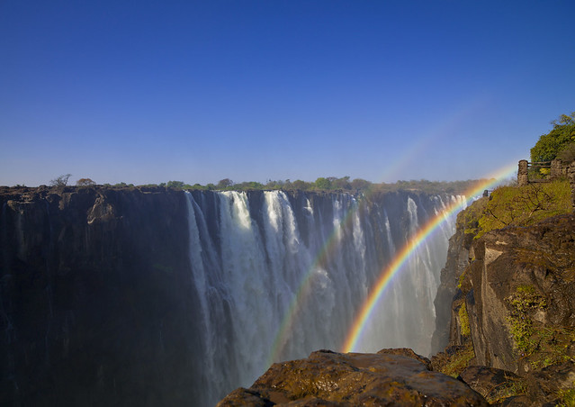 Victoria falls and rainbow, Zambia