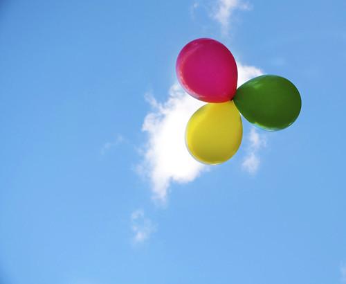 無料写真素材, バックグラウンド, 空, 風船, 青空