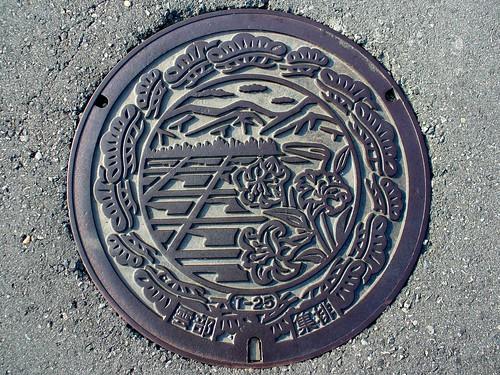 Kumobe Sasayama Hyogo manhole cover(兵庫県篠山市雲部のマンホール)