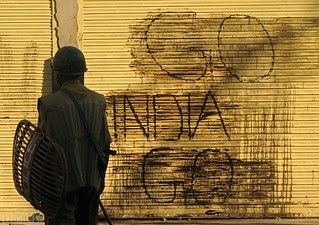 Anti India graffiti in Kashmir