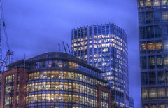 London Night Time Office Buildings