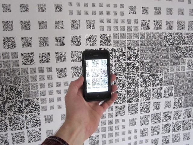 Scanning QR Code Amy Goodman Art