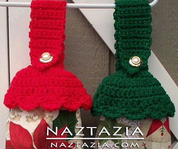 Crochet Patterns For Dish Towel Topper : Crochet Kitchen Towel Toppers for Christmas Flickr ...