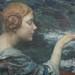 """Edgar Maxence (1871-1954) """"Jeune Fille Rousse Nourrissant des Cygnes"""" by Art & Vintage"""