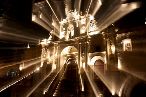 Cathedral Spot Lights Zooming