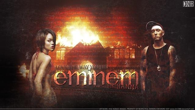 Eminem & Rihanna Love The Way You Lie Wallpaper