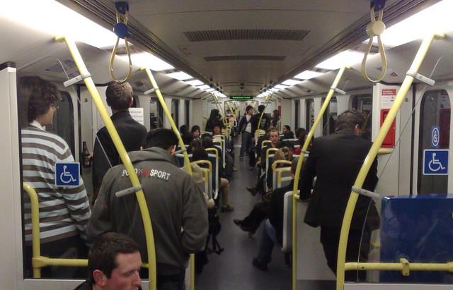 Frankston line, 11:50pm Friday night