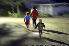 running through the dark streets to nick's elementar…