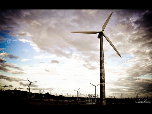 Un parque eólico en India