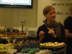 Linda explains her winning cupcakes