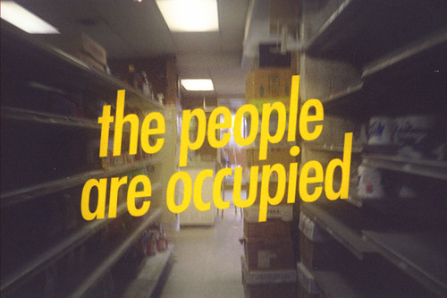 the people are occupied