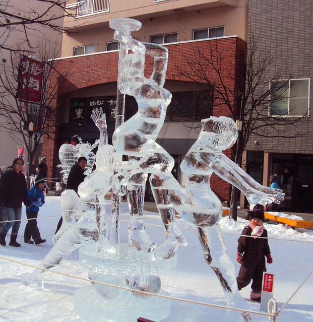 Naked women pole dancing ice sculpture by bryandkeith on flickr