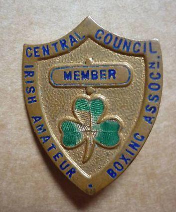 Irish Amateur Boxing Association - Central Council member's badge (1950's ...