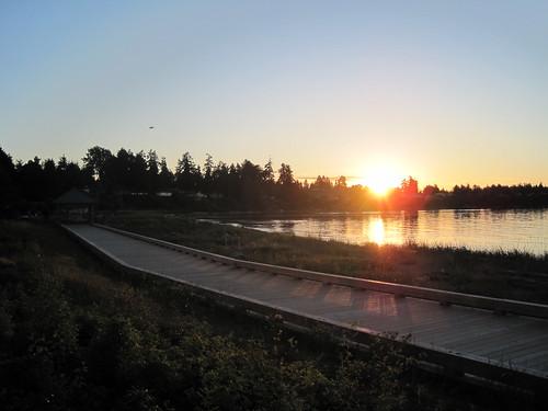 Sunset in Parksville (The Beach Club Resort, Parksville BC)