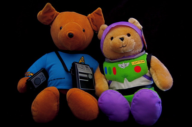 Mr. Spock and Buzz Lightyear Teddy Bears