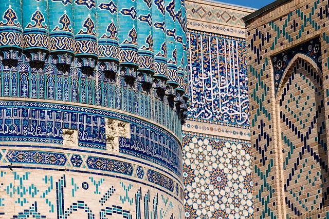 Bibi-Khanym Mosque (مسجد بی بی خانم) and Mausoleum, , Samarkand (Samarqand, Самарқанд, سمرقند), Uzbekistan (O'zbekiston, Ўзбекистон)