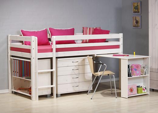 Kinder Midsleeper Bunk Bed In White Wash Wood Flickr