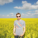 Clinty in a Canola Field