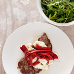 NEW steak with ricotta & peppers