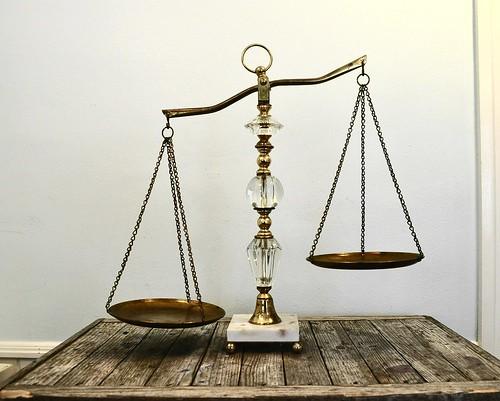 Vintage Balance Scale by Joie De Cleve