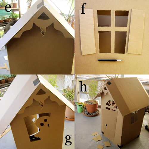 Diy cardboard haunted house alpha mom for How to make a cardboard haunted house