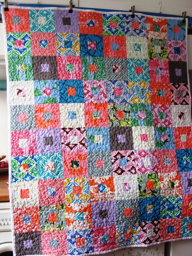 Finished Fat Quarterly Quilt Along Quilt