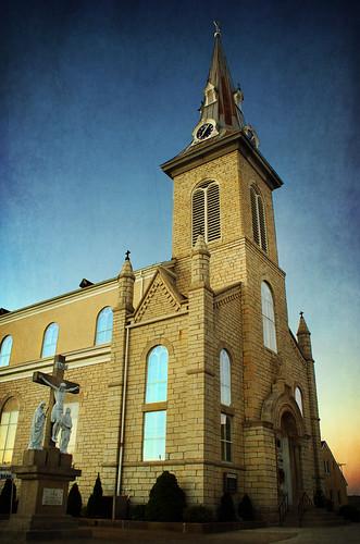 sunset texture church catholicchurch osagecounty ruralmissouri westphaliamissouri olcore