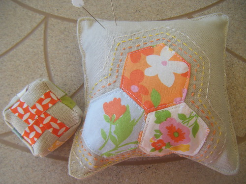 Scrappy pincushion swap, option 1