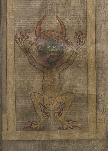 Illustration of the devil by Kungliga biblioteket