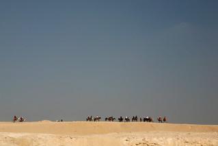 Tourist caravan near Cairo