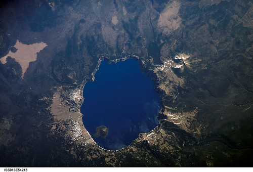 Crater Lake, Oregon (NASA, International Space Station Science, 07/19/06)