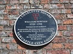 Photo of William Newton black plaque