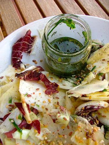briggis recept och ideer insalata amara con dressing alle