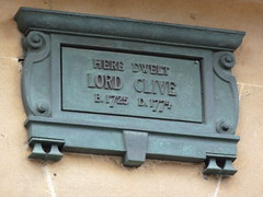 Photo of Robert Clive bronze plaque