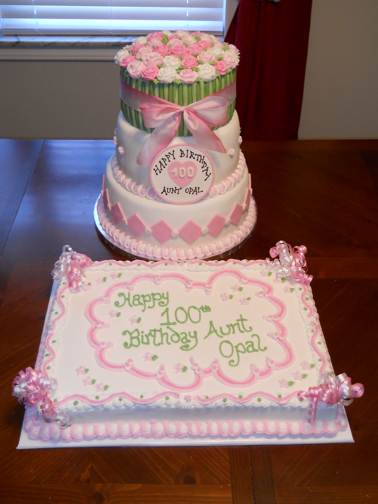 100th Birthday Cake And Sheet